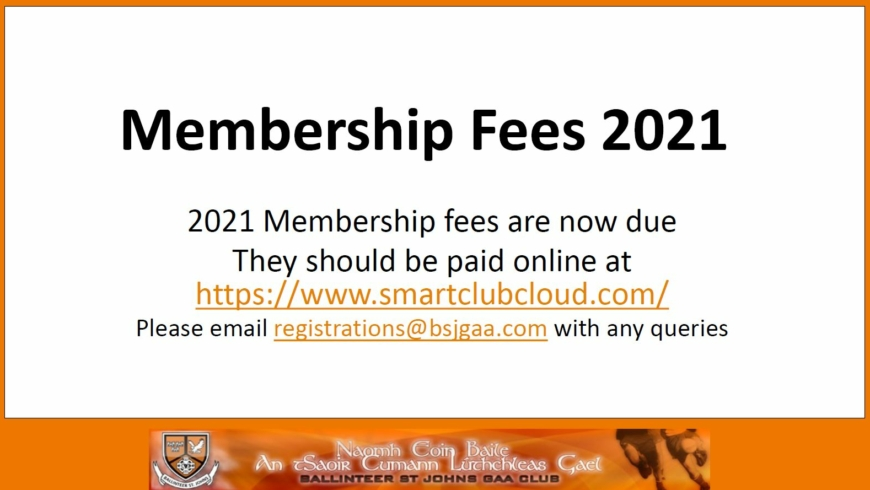 Membership Renewals – now due