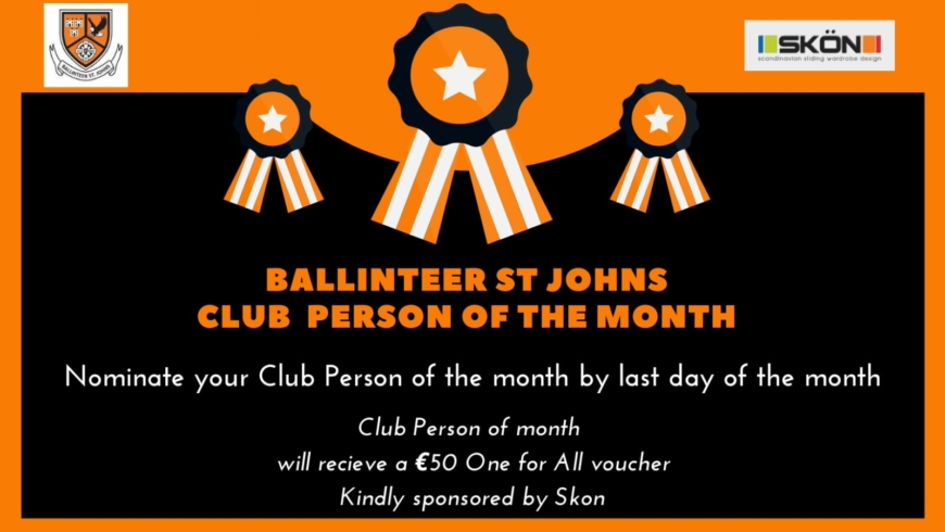 Club Person of the Month – May & June