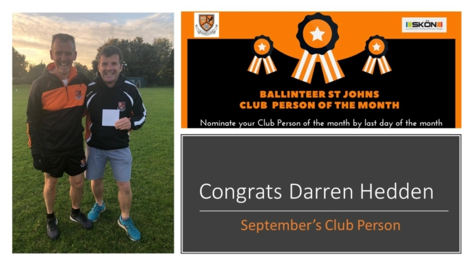 Club Person of the Month – September